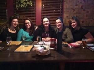 Team Baby Bump - L-R Jennifer, Karen, Erica, Michelle and me :)