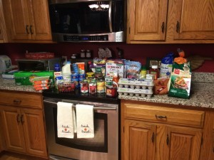 I went grocery shopping the day before Hunter was born. And yes, I carried it all in. I was ready for him to come out!