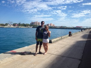 Brian and I in the Bahamas, right before I got pregnant.